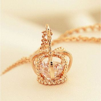 ONETOW Fashion crown necklace, exquisite items jewelry section