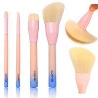 4 PCS Professional Makeup Brush Cosmetic Foundation Powder Brushes Kit