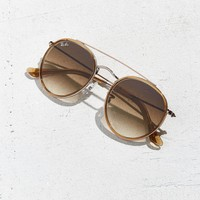Ray-Ban Round Double Bridge Aviator Sunglasses | Urban Outfitters