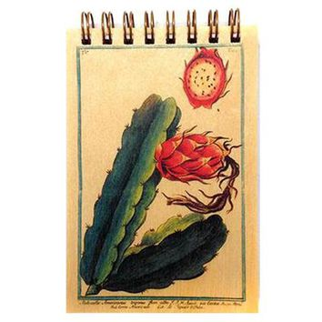 Wood Notepad Cactus Botanical Small
