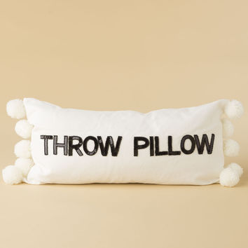 """Throw Pillow"" Sequin Letters Pillow"