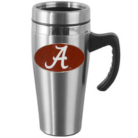 Alabama Crimson Tide Steel Travel Mug w/Handle