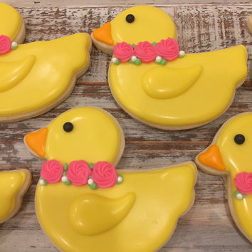 Baby Shower Duck Cookies (1 dozen)