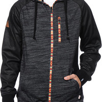 Dravus Plunder Charcoal Aztec Zip Up Hoodie at Zumiez : PDP