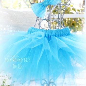 Turquoise Ballerina Tutu Set for Sock Monkey Bizz Dolls