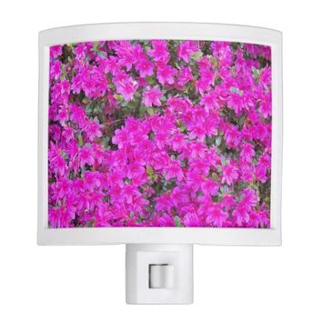 Pink Rhododendron Blossoms Floral Photo Night Light