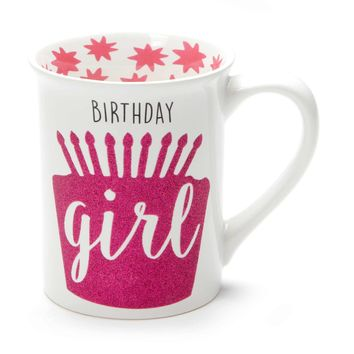 Birthday Girl YAY ME! Glitter Mug