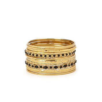 Faux Stone Etched Bangle Set | Forever 21 - 1000203616