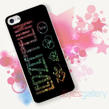 Led Zeppelin on Glitter for iPhone 4/4S, iPhone 5/5S, iPhone 5C, iPhone 6 Case - Samsung S3, Samsung S4, Samsung S5 Case