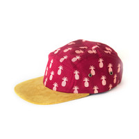 So into this design on Fab! Pineapple Camp Cap Red #FabForAll