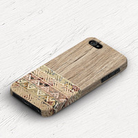 Wood iphone 5c case PRINT ON plastic iPhone 5c case aztec iPhone 4s case floral iphone 5s case silicone iPhone 5 case Galaxy s4 mini c295