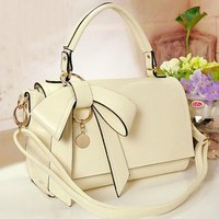 Candy Color Bow Shoulder Bag