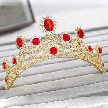 Cool New European Designs Royal King Queen Crowns Zirconia Tiara Head Jewelry Bridesmaids Crown Wedding Bride Tiaras Crowns T012AT_93_12
