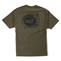 HUF - NATIVE TEE MILITARY GREEN