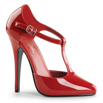 "Domina 415 Red Patent 6"" High Heel Shoes"