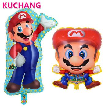 Super Mario party nes switch 10pcs 60*45cm  Brothers Balloons Film Video Game Cartoon Foil Mylar Ballon Birthday Party Decoration Supplies Balls AT_80_8