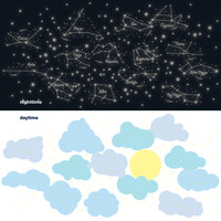 Sunny Day/Starry Night Wall Decals