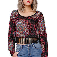 Gypsy Warrior Poet Sleeve Cropped Top at PacSun.com