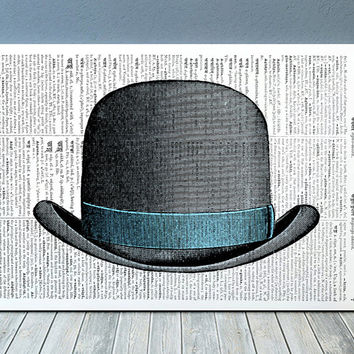 Hat art Vintage print Dictionary print Antique poster RTA1092