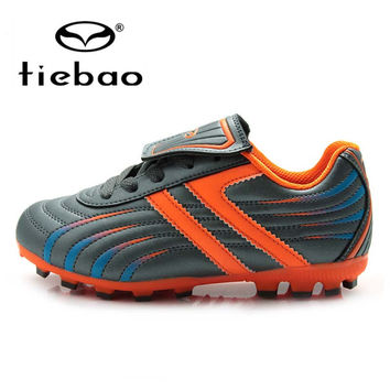 TIEBAO Professional Outdoor Football Boots Children Kids Teenagers HG & AG Sole Soccer Cleats Training Soccer Shoes botas futbol
