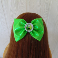 Hair bow / Monsters Inc hair bow / Monster hair bow / hair bow / Mike wazowsky hair bow / fabric bow / disney hair bow / Sully hair bow