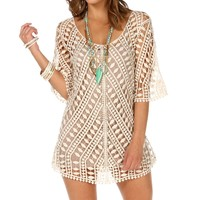 Sale-3/4 Crochet Tunic