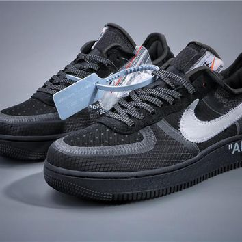 Off White OW x Air Force 1 Black Sneaker