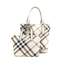 Women's 2 Peice Plaid Bag Set 3 Color Options