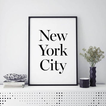 New York City - INSTANT DOWNLOAD, Printable Wall Art, Wall Art, Home Decor, Typography, Prints, NYC, Design, Modern, Minimalist Art Prints