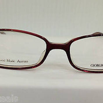 NEW AUTHENTIC GIORGIO ARMANI GA 158 COL H02 BURGUNDY PLASTIC EYEGLASSES FRAME