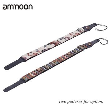 Adjustable Guitar Strap Shoulder Strap PU Leather Ends with Pick Pocket Tie for Acoustic Folk Classical Electric Guitar Bass