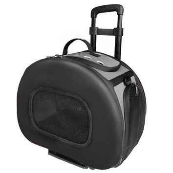 Pet Life Wheeled Tough-Shelled Collapsible Pet Carrier