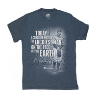 Lou Gehrig: 'The Luckiest Man On The Face of This Earth' Men's Tee - Pro Merch