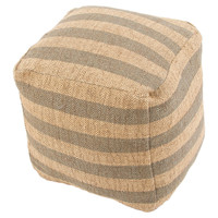 Kellen Pouf, Gray/Natural, Poufs