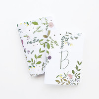 Monogram Notebook Set | Personalized Journal and Illustrated Floral Pocket Notebook: Wild Garden Collection