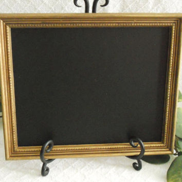 Gold Framed Chalkboard, gold Framed chalk board, kitchen menu board, black board, wedding chalkboard , picture frame, up cycled,
