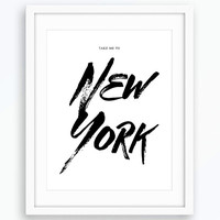 New York Printable Art, Typography Print, Minimalist Poster, Wall Art, Modern Home Decor, Inspiration Decor, Printable Art, New York Print
