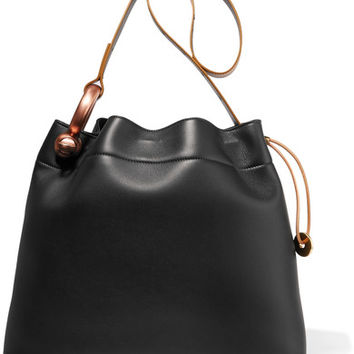 TOM FORD - Hook leather tote