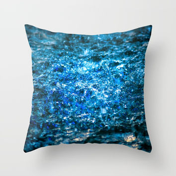 Water Color - Blue Throw Pillow by digital2real
