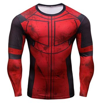 Deadpool Dead pool Taco New Brand Summer Compression T Shirt Men 3D  T-Shirt Long Sleeve Cosplay Costume Shirt Crossfit Fitness Clothing Tops AT_70_6