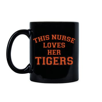 This Nurse Loves Her Auburn Tigers Coffee Mug - Alabama Nurse Sayings and Quotes Tea Travel Cup - Best Unique Gift For Mom or Family Member – War Eagl