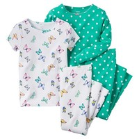 Baby Girl Carter's 4-pc. Print Pajama Set
