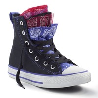 Converse Chuck Taylor All Star Party Multi-Tongue High-Top Sneakers For Girls (Black)
