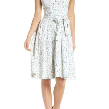 Gal Meets Glam Collection Spring Sprig Print Wrap Style Dress | Nordstrom