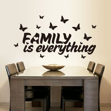 High Quality Butterflies and Family Home Decor Wall Stickers Waterproof Removable Wedding Decoration Wallpaper VA8349