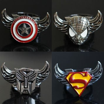 Featured Store Captain America, superman iron man new rotating ring ring = 1946134596
