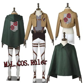Cool Attack on Titan Custom Made Cosplay Clothes /No  Dot Pixis Stationed Corps Commander Cosplay Costume Halloween AT_90_11