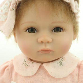 Silicone Baby Dolls 18 Inches baby soft vinyl real touch lovely baby