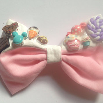 Dripping Fairy Kei Hair Bow Melting Icing Decoden Kawaii Sweet Lolita Lollipop Candy Sweets