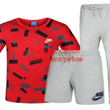Nike T-Shirt Short Sleeve Nike Short Nike Trousers L-4XL P115 Red Grey